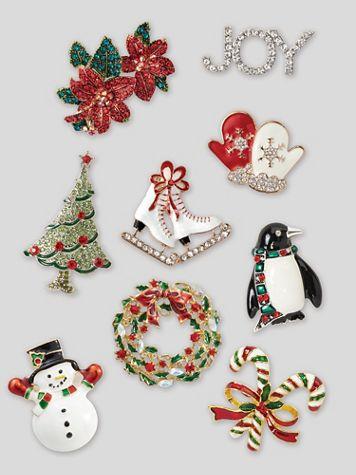 Holiday Charm Pins - Image 1 of 7
