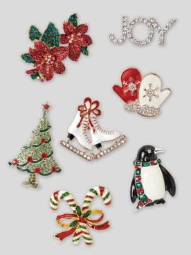 Holiday Charm Pins