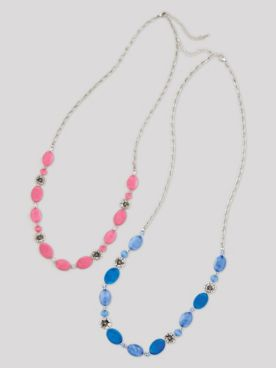 Jeweled Flower Necklace