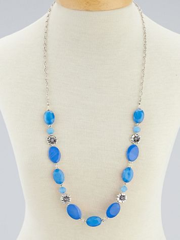 Jeweled Flower Necklace - Image 1 of 2
