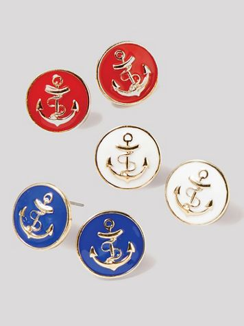 Nautical Anchor Earrings - Image 1 of 4