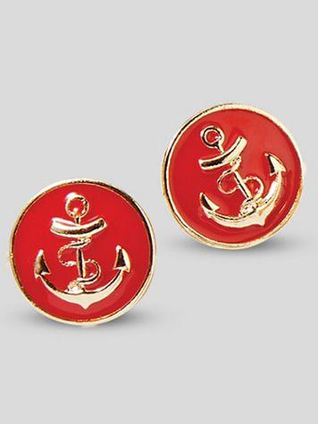 Nautical Anchor Earrings - Image 1 of 1