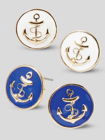 Nautical Anchor Earrings - Image 1 of 3