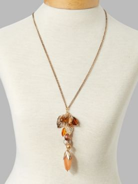 Falling Leaves Long Necklace