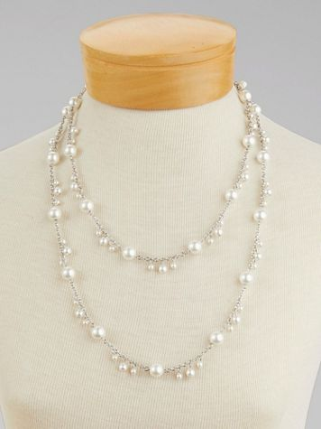 Simplicity Long Pearl Necklace - Image 1 of 4