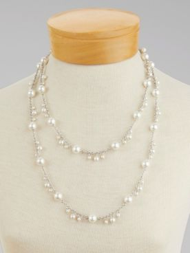 Simplicity Long Pearl Necklace