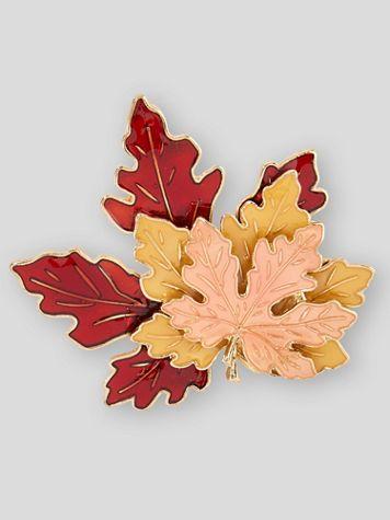 Fall Foliage Enamel Pin - Image 2 of 2