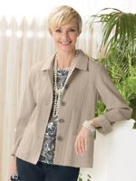 Button Front Crinkle Jacket