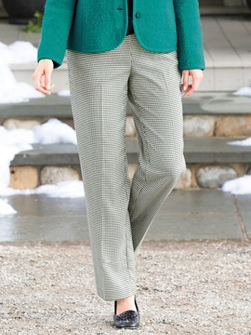 Houndstooth Flat-Front Pant - Image 1 of 5