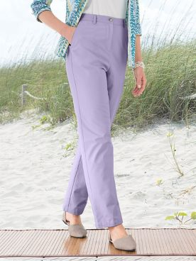 Carefree Twill Fly Front Pants