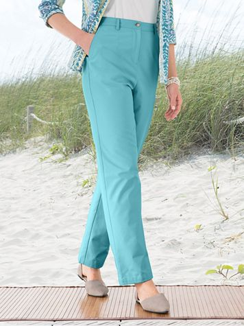 Carefree Twill Fly Front Pants - Image 5 of 5