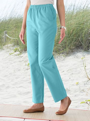 Carefree Twill Pull On Pants