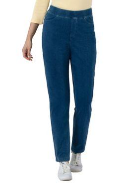 Knit Denim Slim Jeans
