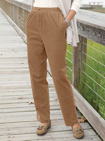 Stretch Pincord Pull On Pants