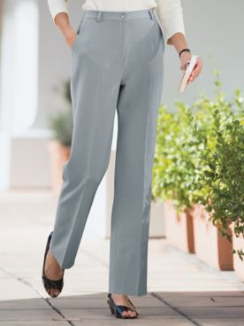 Stretch Fly-Front Pants