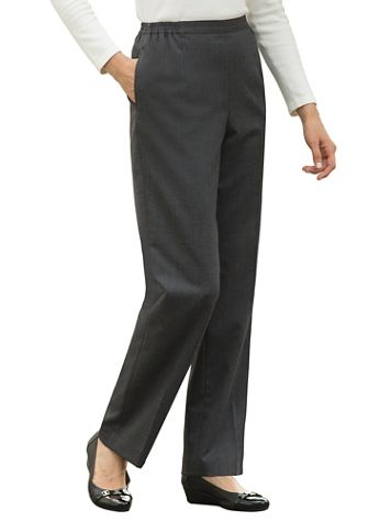 Stretch Wool Gabardine Pull-On Pants - Image 1 of 7