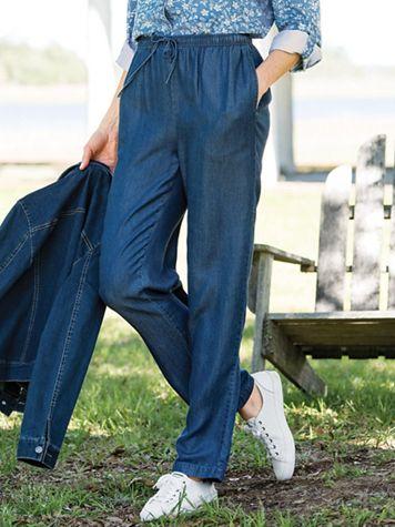 Tencel Drawstring Jeans - Image 1 of 5