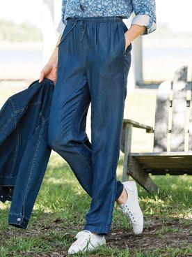 Tencel Drawstring Jeans