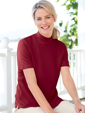 Essential Short-Sleeve Mockneck - Image 1 of 29
