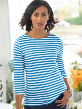 Simply Stripes 3/4 Sleeve Tee