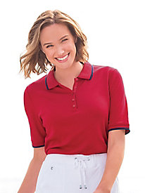 Elbow-Sleeve Tipped Polo