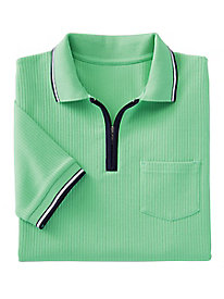 Haymaker Tipped Ribbed Polo