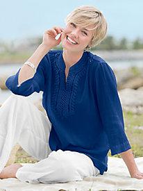 Easy Breezy Crochet-Trim Tunic