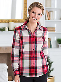 Foxcroft® for Appleseed's Tartan Perfect Shirt