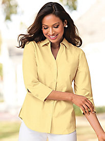 Foxcroft Appleseed's Perfect-Fit 3/4-Sleeve Shirt