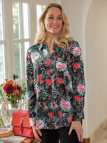 Holiday Floral Tunic