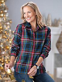 Foxcroft Tartan Plaid Shirt