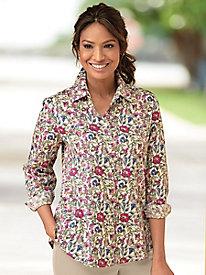 ecc285a8a9f8a Foxcroft Botanical Floral Shirt