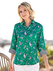 34d79e80a88df Foxcroft for Appleseeds Paisley Print Shirt