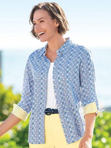 Foxcroft Tile Print Shirt - Image 1 of 3