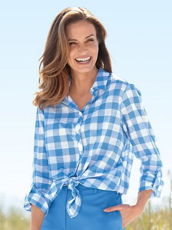 Foxcroft Gingham Check Shirt - Image 4 of 4