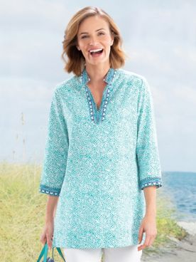 Foxcroft Border Trim Tunic