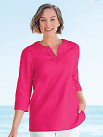 Captiva Crochet Trim Tunic