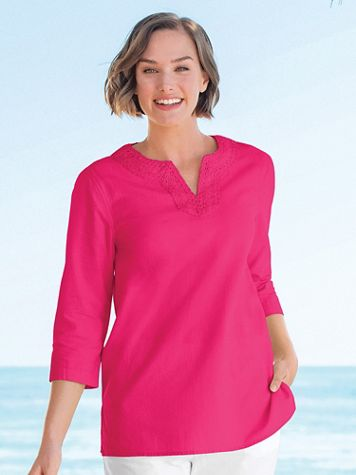 Captiva Crochet Trim Tunic - Image 1 of 10
