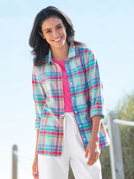 Authentic Madras Plaid Shirt