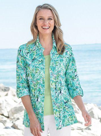 Tropical Fern Crinkle Shirt - Image 1 of 1
