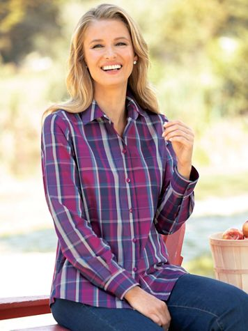 Foxcroft Loganberry Plaid - Image 2 of 2