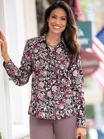 Foxcroft Jacobean Floral Shirt - Image 1 of 2
