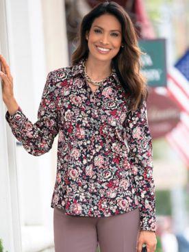 Foxcroft Jacobean Floral Shirt