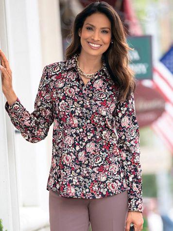 Foxcroft Jacobean Floral Shirt - Image 3 of 3