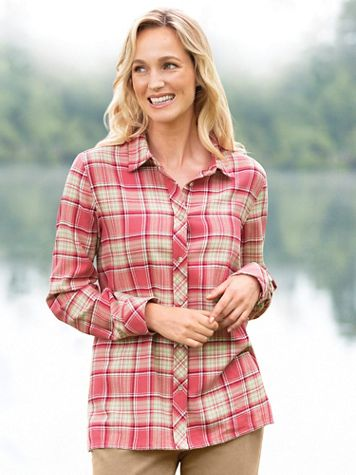 Cotton Flannel Plaid Shirt - Image 0 of 1
