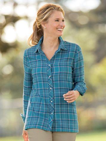 Cotton Flannel Plaid Shirt - Image 1 of 2