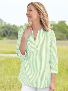 Foxcroft® Striped Tunic