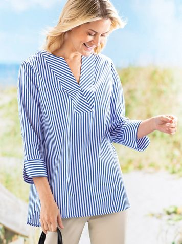 Foxcroft® Striped Tunic - Image 3 of 3