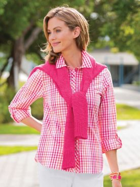 Multi-Color Gingham Cotton Shirt