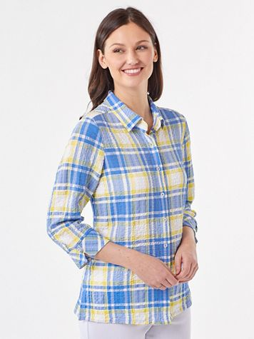 Puckered Plaid Shirt - Image 1 of 4